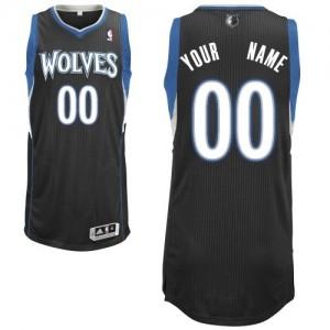 Maillot NBA Noir Authentic Personnalisé Minnesota Timberwolves Alternate Homme Adidas