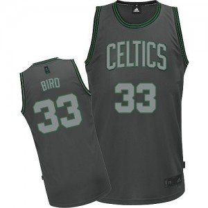 Maillot Authentic Boston Celtics NBA Graystone Fashion Gris - #33 Larry Bird - Homme