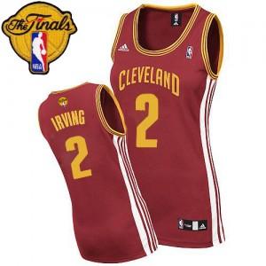 Cleveland Cavaliers #2 Adidas Road 2015 The Finals Patch Vin Rouge Swingman Maillot d'équipe de NBA en soldes - Kyrie Irving pour Femme
