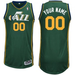Maillot NBA Utah Jazz Personnalisé Authentic Vert Adidas Alternate - Homme
