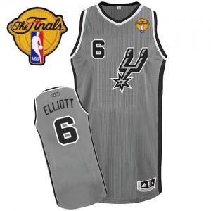 Maillot NBA Gris argenté Sean Elliott #6 San Antonio Spurs Alternate Finals Patch Authentic Homme Adidas