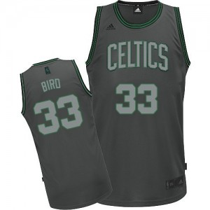 Maillot Adidas Gris Graystone Fashion Swingman Boston Celtics - Larry Bird #33 - Homme