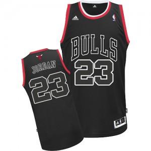 Chicago Bulls #23 Adidas Shadow Noir Authentic Maillot d'équipe de NBA Soldes discount - Michael Jordan pour Homme