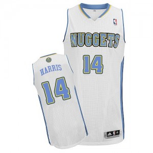 Maillot Authentic Denver Nuggets NBA Home Blanc - #14 Gary Harris - Homme