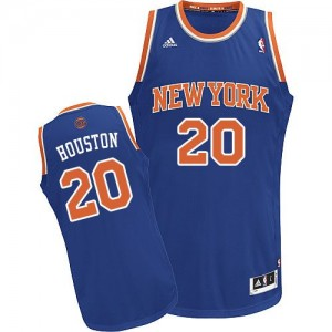 Maillot NBA Bleu royal Allan Houston #20 New York Knicks Road Swingman Homme Adidas