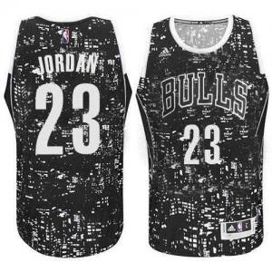 Chicago Bulls #23 Adidas City Light Noir Authentic Maillot d'équipe de NBA Vente pas cher - Michael Jordan pour Homme