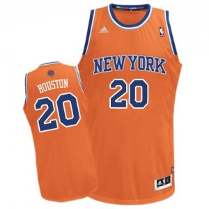 Maillot NBA New York Knicks #20 Allan Houston Orange Adidas Swingman Alternate - Homme