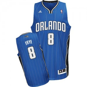 Maillot NBA Bleu royal Channing Frye #8 Orlando Magic Road Swingman Homme Adidas