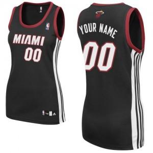 Miami Heat Personnalisé Adidas Road Noir Maillot d'équipe de NBA la vente - Authentic pour Femme