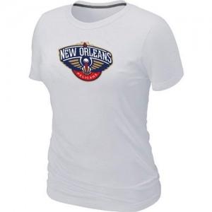 New Orleans Pelicans Big & Tall Blanc T-Shirt d'équipe de NBA boutique en ligne - pour Femme