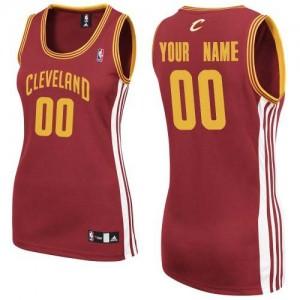 Maillot NBA Authentic Personnalisé Cleveland Cavaliers Road Vin Rouge - Femme