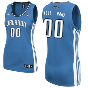Maillot NBA Bleu royal Swingman Personnalisé Orlando Magic Road Femme Adidas