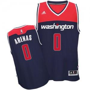 Washington Wizards Gilbert Arenas #0 Alternate Swingman Maillot d'équipe de NBA - Bleu marin pour Homme