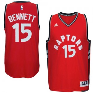 Maillot NBA Rouge Anthony Bennett #15 Toronto Raptors climacool Authentic Homme Adidas