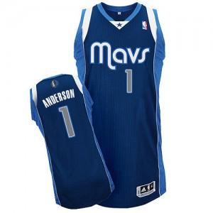 Dallas Mavericks Justin Anderson #1 Alternate Authentic Maillot d'équipe de NBA - Bleu marin pour Homme