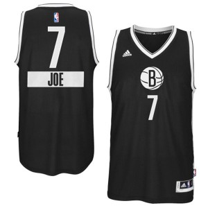 Maillot NBA Brooklyn Nets #7 Joe Johnson Noir Adidas Swingman 2014-15 Christmas Day - Homme