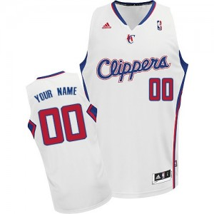 Maillot NBA Blanc Swingman Personnalisé Los Angeles Clippers Home Homme Adidas