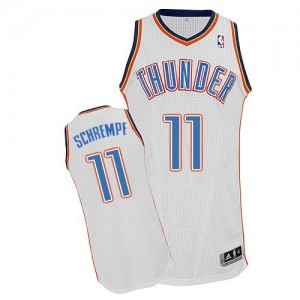 Maillot NBA Oklahoma City Thunder #11 Detlef Schrempf Blanc Adidas Authentic Home - Homme