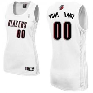 Maillot NBA Authentic Personnalisé Portland Trail Blazers Home Blanc - Femme