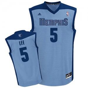 Memphis Grizzlies #5 Adidas Alternate Bleu clair Swingman Maillot d'équipe de NBA Discount - Courtney Lee pour Homme