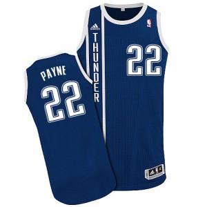 Oklahoma City Thunder #22 Adidas Alternate Bleu marin Authentic Maillot d'équipe de NBA Prix d'usine - Cameron Payne pour Homme