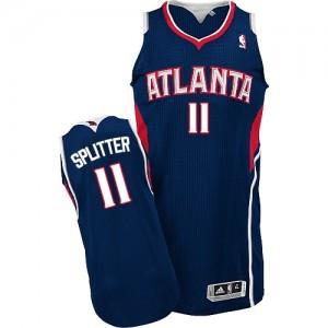 Atlanta Hawks #11 Adidas Road Bleu marin Authentic Maillot d'équipe de NBA Le meilleur cadeau - Tiago Splitter pour Homme