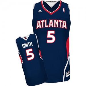 Maillot NBA Atlanta Hawks #5 Josh Smith Bleu marin Adidas Swingman Road - Homme
