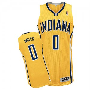 Maillot NBA Indiana Pacers #0 C.J. Miles Or Adidas Authentic Alternate - Homme
