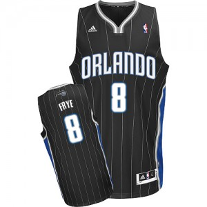 Maillot NBA Orlando Magic #8 Channing Frye Noir Adidas Swingman Alternate - Homme