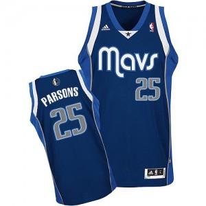 Dallas Mavericks Chandler Parsons #25 Alternate Swingman Maillot d'équipe de NBA - Bleu marin pour Homme