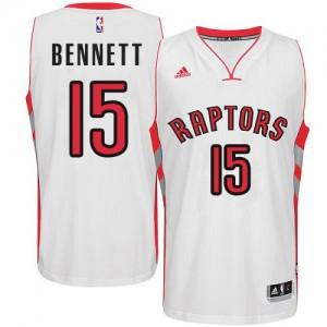 Toronto Raptors #15 Adidas Home Blanc Swingman Maillot d'équipe de NBA achats en ligne - Anthony Bennett pour Homme