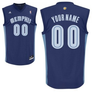 Memphis Grizzlies Personnalisé Adidas Road Bleu marin Maillot d'équipe de NBA Remise - Swingman pour Enfants