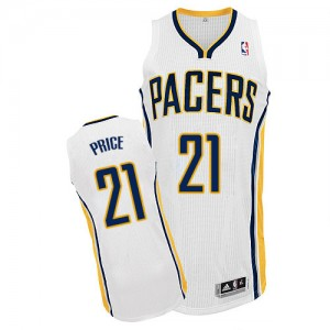 Indiana Pacers #21 Adidas Home Blanc Authentic Maillot d'équipe de NBA prix d'usine en ligne - A.J. Price pour Homme