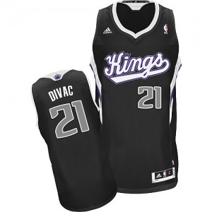 Maillot NBA Swingman Vlade Divac #21 Sacramento Kings Alternate Noir - Homme