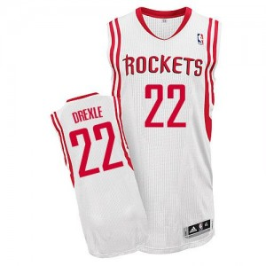 Houston Rockets Clyde Drexler #22 Home Authentic Maillot d'équipe de NBA - Blanc pour Homme