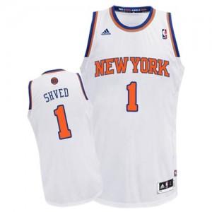 New York Knicks #1 Adidas Home Blanc Swingman Maillot d'équipe de NBA pas cher en ligne - Alexey Shved pour Homme