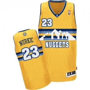 Maillot Authentic Denver Nuggets NBA Alternate Or - #23 Jusuf Nurkic - Homme