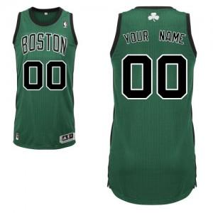 Maillot NBA Boston Celtics Personnalisé Authentic Vert (No. noir) Adidas Alternate - Enfants