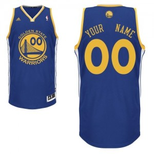 Maillot NBA Bleu royal Swingman Personnalisé Golden State Warriors Road Enfants Adidas