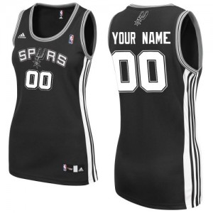 San Antonio Spurs Swingman Personnalisé Road Maillot d'équipe de NBA - Noir pour Femme