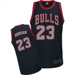Chicago Bulls Michael Jordan #23 Graystone Fashion Authentic Maillot d'équipe de NBA - Noir pour Homme