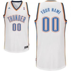 Maillot NBA Blanc Swingman Personnalisé Oklahoma City Thunder Home Homme Adidas