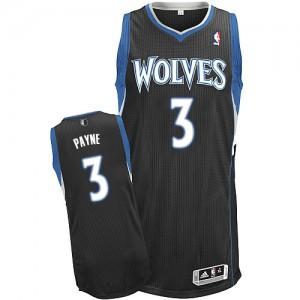 Maillot Authentic Minnesota Timberwolves NBA Alternate Noir - #3 Adreian Payne - Homme
