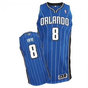 Maillot Adidas Bleu royal Road Authentic Orlando Magic - Channing Frye #8 - Homme