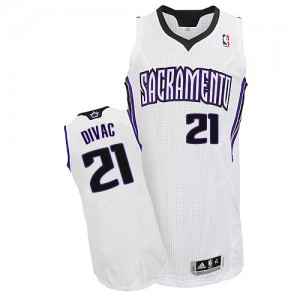 Maillot Adidas Blanc Home Authentic Sacramento Kings - Vlade Divac #21 - Homme