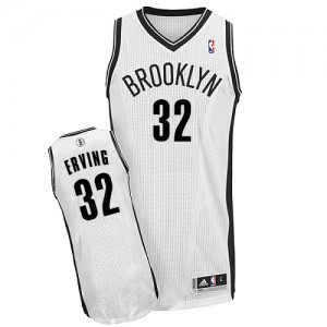 Maillot NBA Brooklyn Nets #32 Julius Erving Blanc Adidas Authentic Home - Homme