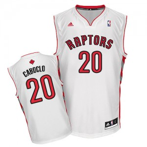 Maillot NBA Blanc Bruno Caboclo #20 Toronto Raptors Home Swingman Homme Adidas