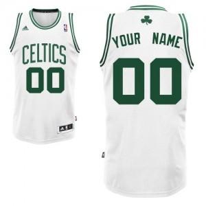 Maillot NBA Swingman Personnalisé Boston Celtics Home Blanc - Homme
