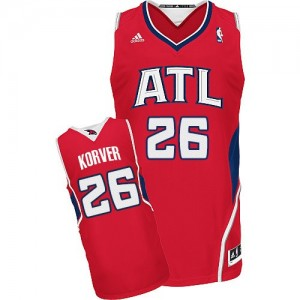 Atlanta Hawks Kyle Korver #26 Alternate Swingman Maillot d'équipe de NBA - Rouge pour Homme