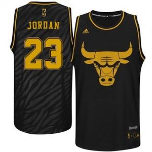 Chicago Bulls #23 Adidas Precious Metals Fashion Noir Authentic Maillot d'équipe de NBA Prix d'usine - Michael Jordan pour Homme